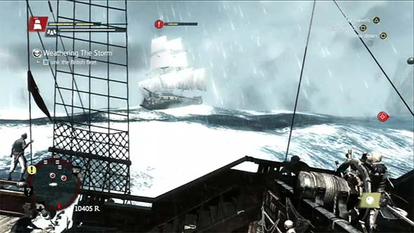 Assassin's Creed IV: Black Flag - sailing through storm
