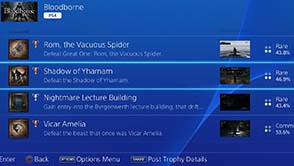 Bloodborne - trophy rarity