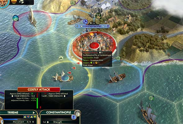 Civilization V - Trireme invasion