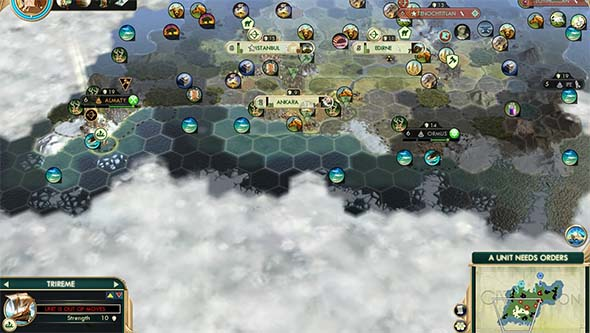 Civilization V - ice locked