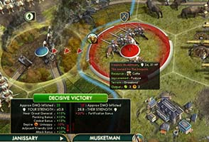 Civilization V - attacking with wounded Janissary