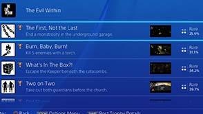 The Evil Within - trophy rarity