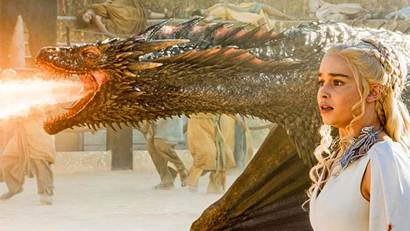Game of Thrones (season 5) - Daenerys saved by Drogon