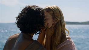 Game of Thrones (season 5) - Ellaria kisses Myrcella