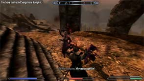 Skyrim Dawnguard - vampires at Dragon Shrine