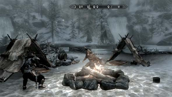 Skyrim - camp fire