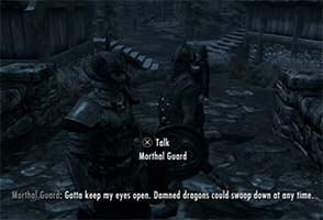 Skyrim - guard fears dragons