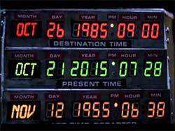 Back to the Future II - dates