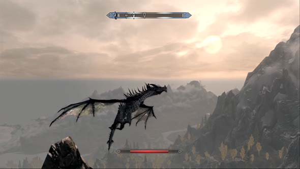 Skyrim Dragonborn - stairs are for chumps