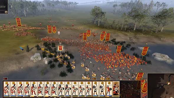 Total War: Rome II - river battle