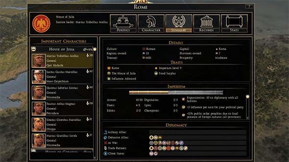 Total War: Rome II - army and agent caps