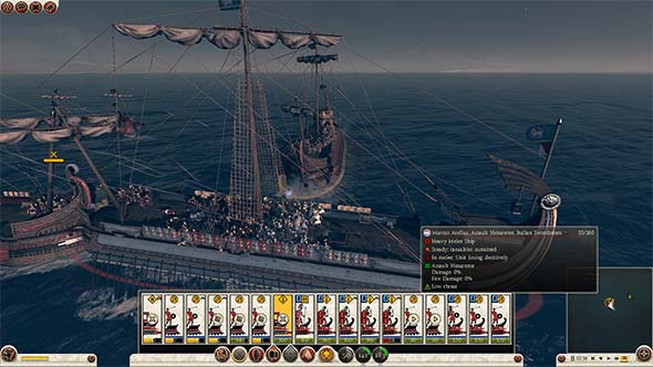 Total War: Rome II - naval battles