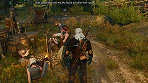 The Witcher III: Wild Hunt - hungry refugees