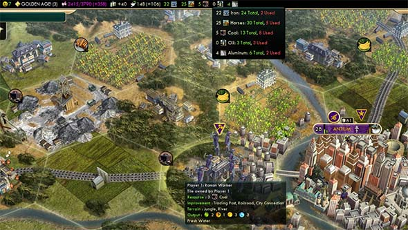 Civilization V - coal stockpile