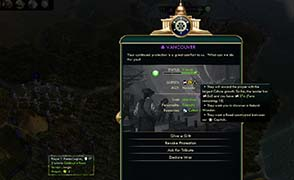 Civilization V - legion building road to city state