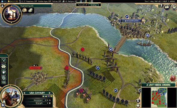 Civilization V - Civil War scenario