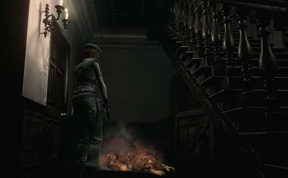 Resident Evil HD - burning body