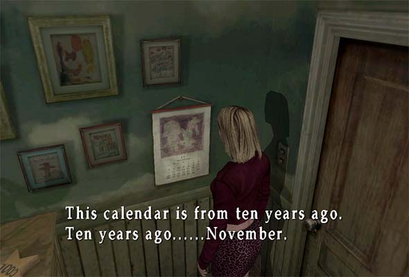 Silent Hill 2 Born From a Wish - November calendar