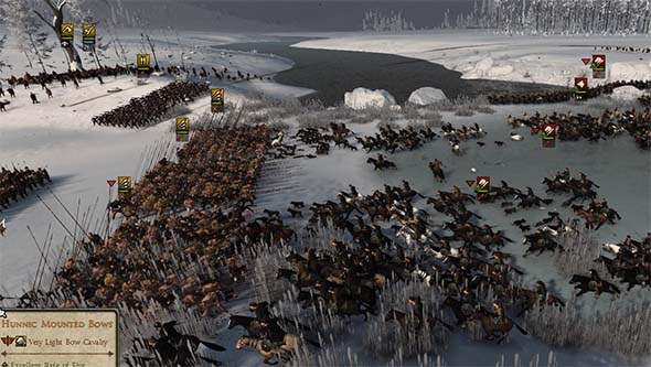 Total War: Attila - horses against pike wall