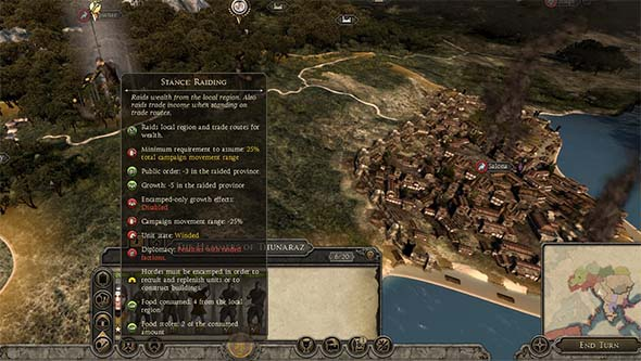 Total War: Attila - countryside raiding