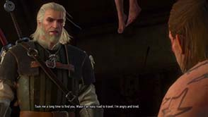 The Witcher III: Wild Hunt - confronting Junior