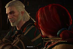 The Witcher III: Wild Hunt - Triss reunion