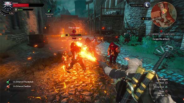 The Witcher III: Wild Hunt - higher-level enemies