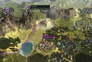 Civilization V - crossing mountains to attack Rome