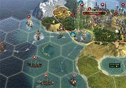 Civilization V - navy protecting colonies