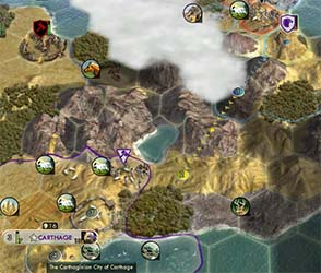 Civilization V - pathfinding across mountains