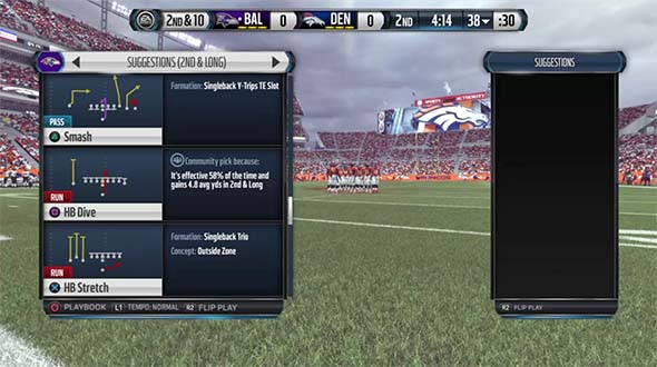 Madden NFL 16 - local multiplayer play-call screen