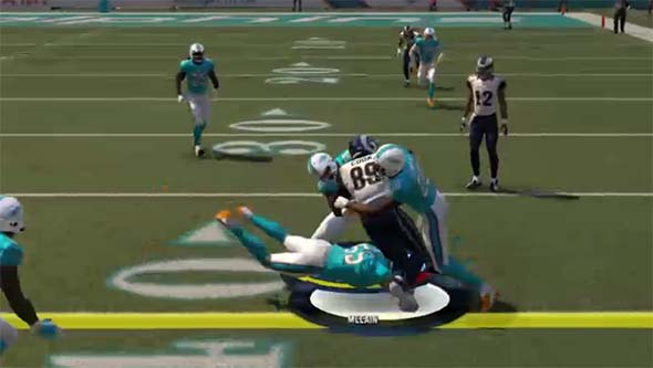 Madden NFL 16 - taking legs out from under runner