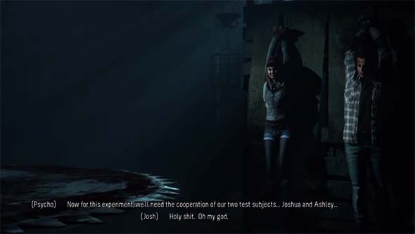Until Dawn - Chris and Ashley experiment