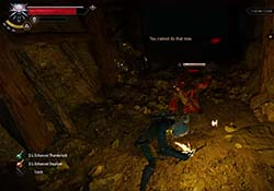 The Witcher III: Wild Hunt - witcher sense in combat
