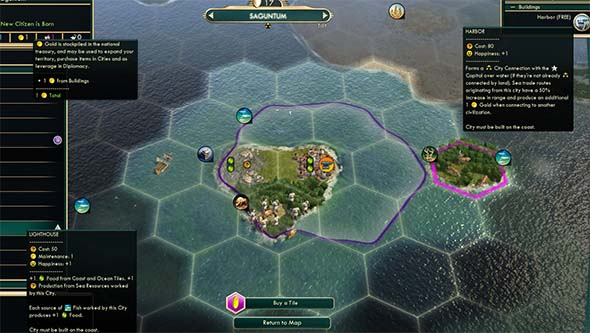 Civilization V - Harbors buffed with exploration