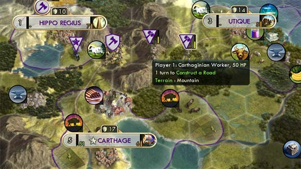 Civilization V - roads on mountains