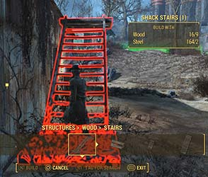 Fallout 4 - Nick blocking construction of stairs