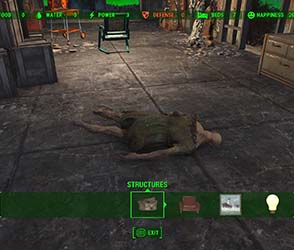 Fallout 4 - can't dispose of dead bodies in settlements