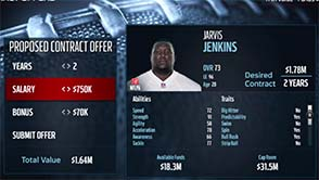 Madden NFL 16 - contract negotiation