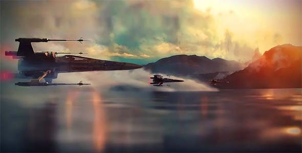 Star Wars the Force Awakens - X-wings incoming