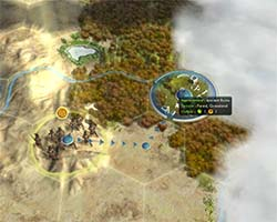 Civilization V - unit entering rough terrain