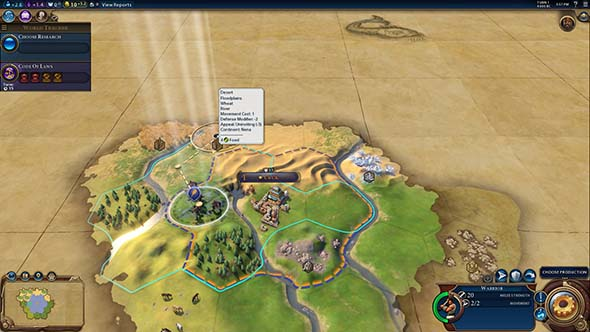 Civilization VI - follow flat land