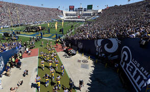 The Rams playing in Los Angeles