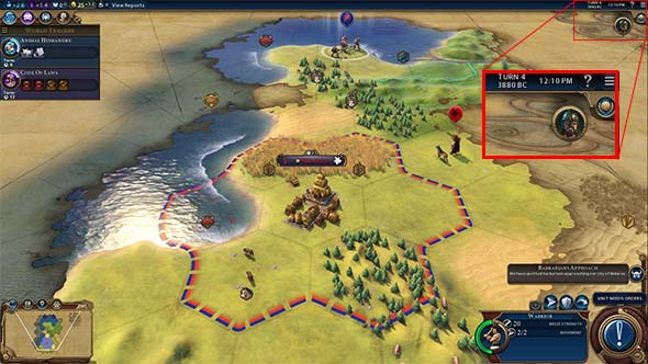Civilization VI - Barb scout on turn 4