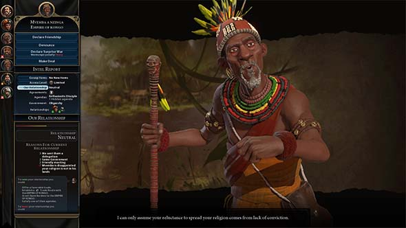 Civilization VI - threat from an A.I.