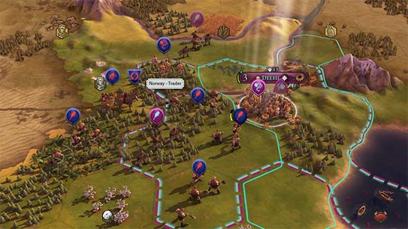 Civilization VI - Norwegian trader among invasion force