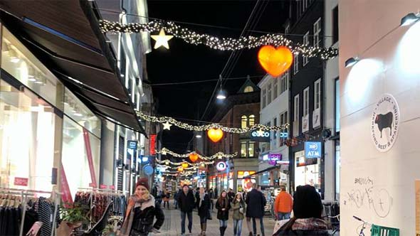 Christmas decorations in Copenhagen