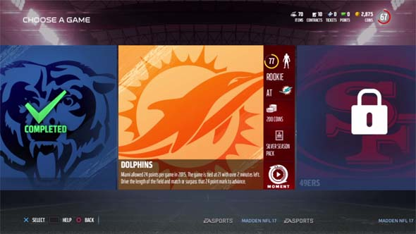 Madden 17 - Ultimate Team challenges