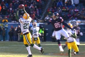 Bears vs Packers: Barkley intercepted