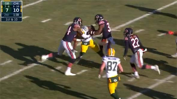 Bears v Packers: can't tackle Montgomery